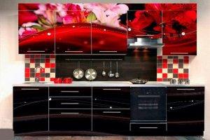 Кухня Алая Лилия - Мебельная фабрика «Самеко»