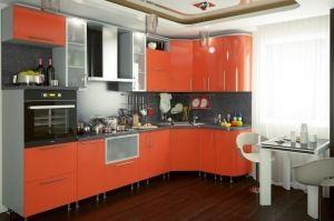 Оранжевая угловая кухня Анжелика - Мебельная фабрика «Д.А.Р. Мебель»