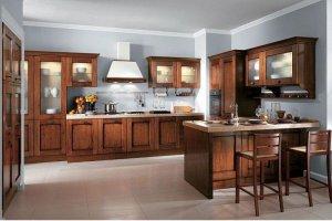 Кухня Арт из массива 009 - Мебельная фабрика «Арт-Тек мебель»