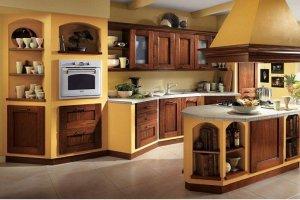 Кухня Арт из массива 016 - Мебельная фабрика «Арт-Тек мебель»