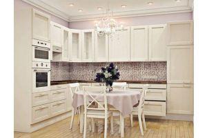 Кухня белая Лион - Мебельная фабрика «Мебель.Ру»