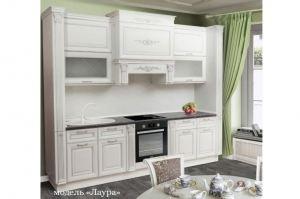 Кухня белая массив Лаура - Мебельная фабрика «Корфил»