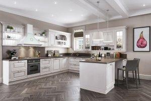 Кухня белая П-образная - Мебельная фабрика «Рось»