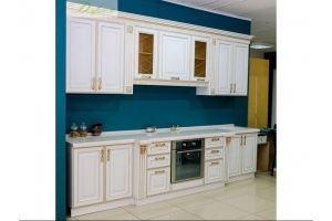 Кухня белая прямая Ариела - Мебельная фабрика «Дэрия»