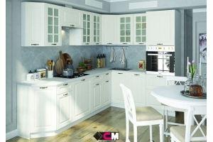 Кухня белая угловая Мария - Мебельная фабрика «Стендмебель»