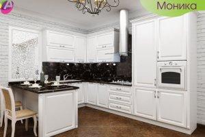 Кухня белая угловая Моника - Мебельная фабрика «Акварель»