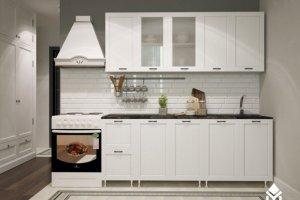Кухня Белая в рамке - Мебельная фабрика «Северин»