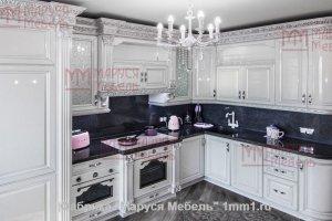 Кухня белая в стиле Барокко - Мебельная фабрика «Маруся Мебель»