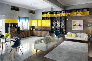 Кухня Бергер шоколад с лимоном  - Мебельная фабрика «Кухонный двор»