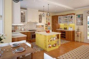 Кухня Берта массив и шпон бука - Мебельная фабрика «Кухонный двор» г. Малаховка