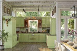 Кухня Берта мятная - Мебельная фабрика «Кухонный двор»