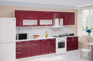 Кухня Брусничный металлик - Мебельная фабрика «Влад»