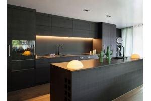 Кухня черная матовая Дана - Мебельная фабрика «LEVANTEMEBEL»