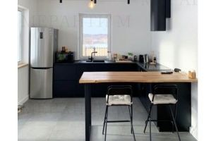 Кухня черная с фасадом Simpel 7 - Мебельная фабрика «Меранти М»