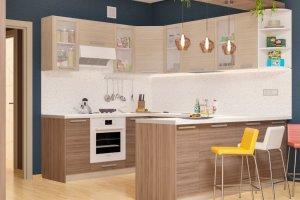 Кухня угловая с полуостровом Дельта 7 - Мебельная фабрика «Пирамида»