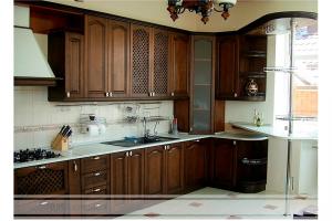 Кухня Домино из массива дерева - Мебельная фабрика «Ника-Стиль»