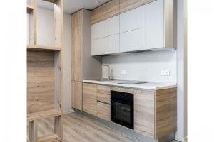 Кухня Дуб сонома/Крем - Мебельная фабрика «Артис»