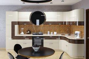 Кухня эмаль/шпон - Мебельная фабрика «Мелиада»