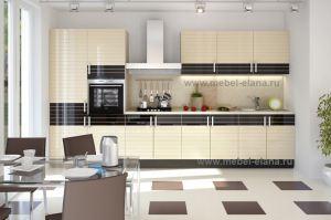 Кухня Эмаль со шпоном - Мебельная фабрика «Элана»