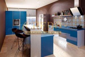Кухня Эмаль+ TSS Cleaf плита - Мебельная фабрика «Кредо», г. Ульяновск
