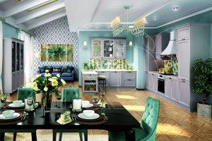 Кухня Эмилия пепельный - Мебельная фабрика «Кухонный двор» г. Малаховка