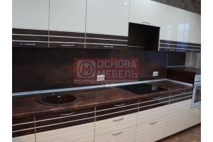 Кухня эмаль и шпон Эмма - Мебельная фабрика «Основа-Мебель»