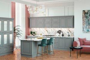 Кухня Фелиса Колор с островом - Мебельная фабрика «Первая мебельная фабрика»