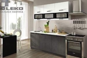 Кухня Фиджи белый/бетон - Мебельная фабрика «ЛЕКО»