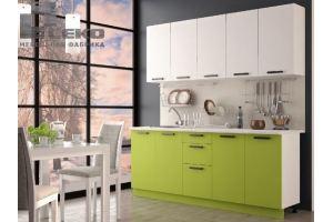 Кухня Фиджи белый/лайм - Мебельная фабрика «ЛЕКО»