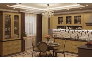 Кухня Флора лимонный чизкейк - Мебельная фабрика «GRETA»