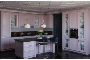 Кухня Флора нежно розовая - Мебельная фабрика «GRETA»