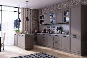 Кухня с островом Глетчер - Мебельная фабрика «Стайлинг»