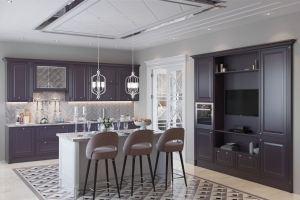 Кухня Глория сливовая с островом - Мебельная фабрика «GRETA»