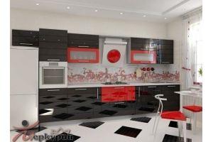 Кухня глянцевая Лора - Мебельная фабрика «Меркурий»