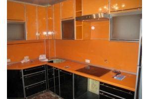 Кухня глянцевая оранжевая МДФ - Мебельная фабрика «Народная мебель»
