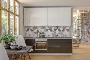 Кухня глянцевая Сити стекло - Мебельная фабрика «Эстель»