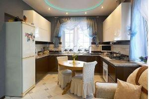 Кухня глянец п-образная k180525 - Мебельная фабрика «Астрон»