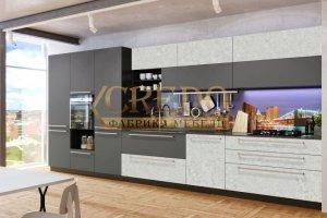 Кухня графитовая ПЛЕНКА ПВХ - Мебельная фабрика «Кредо», г. Ульяновск
