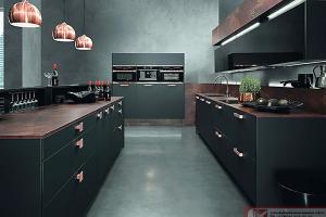 Кухня Хайтек черная - Мебельная фабрика «ГОСТ»