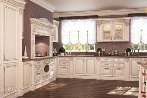 Кухня Infinity островная (патина серебро) арт. 361 - Мебельная фабрика «Патио Кухни»