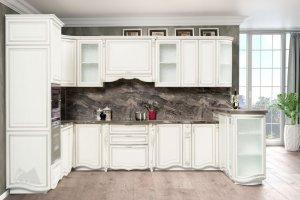 Кухня Инканто с серебряной патиной - Мебельная фабрика «Кубань-Мебель»
