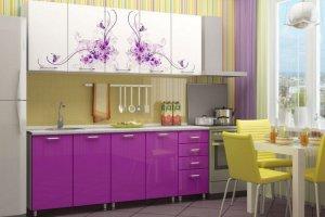 Кухонный гарнитур Инна с фотопечатью - Мебельная фабрика «Д.А.Р. Мебель»