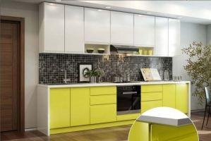 Кухня прямая Интегро - Мебельная фабрика «Ренессанс»