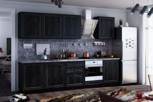 Кухня Италия Дуб тёмный - Мебельная фабрика «Любимый дом (Алмаз)»