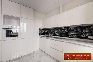 Кухня из акрила Белая Интегро - Мебельная фабрика «Прима-сервис»