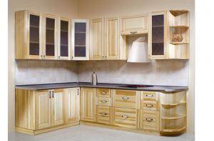 Кухня из дерева Маргарита - Мебельная фабрика «Pines (Пайнс)»