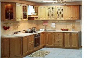 Кухня из дерева Мария - Мебельная фабрика «Pines (Пайнс)»
