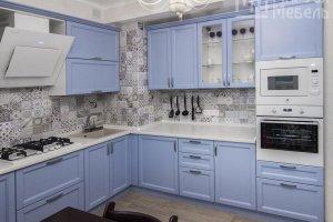 Кухня из голубого бука в стиле кантри - Мебельная фабрика «Маруся мебель»