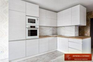 Кухня из шпона Бежевая Норд - Мебельная фабрика «Прима-сервис»