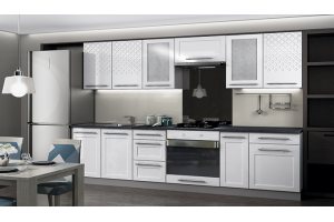 Кухня качественная прямая Николь - Мебельная фабрика «БУРЭ»